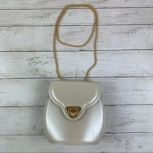 Frenchy of California Vintage Purse Pearl White